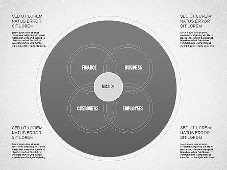 Mission Vision and Core Values Diagram, Slide 4, 01242, Business Models — PoweredTemplate.com