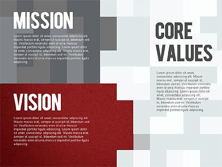 Mission, Vision and Core Values Diagram, Slide 9, 01242, Business Models — PoweredTemplate.com