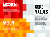 Business Models: Mission, Vision and Core Values Diagram #01242