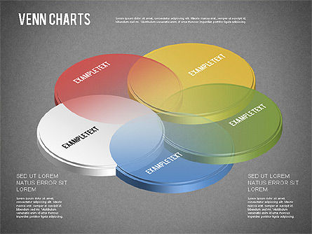 Colored Venn Diagram, Slide 12, 01243, Business Models — PoweredTemplate.com