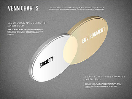 Colored Venn Diagram, Slide 14, 01243, Business Models — PoweredTemplate.com