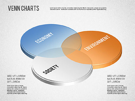Colored Venn Diagram, Slide 2, 01243, Business Models — PoweredTemplate.com