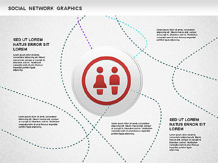 Social Network Diagram, 01245, Business Models — PoweredTemplate.com