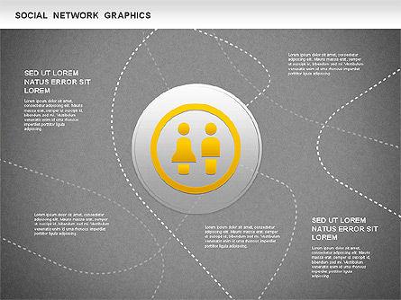 Social Network Diagram, Slide 10, 01245, Business Models — PoweredTemplate.com
