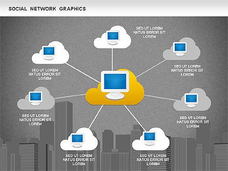 Social Network Diagram, Slide 11, 01245, Business Models — PoweredTemplate.com