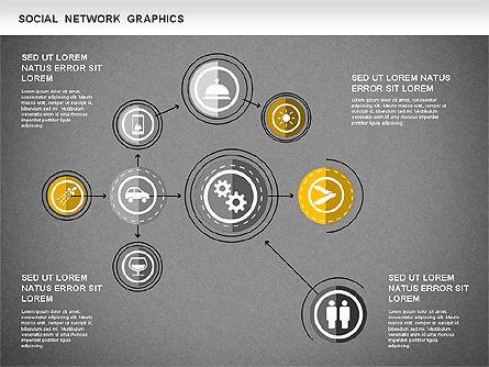 Social Network Diagram, Slide 13, 01245, Business Models — PoweredTemplate.com