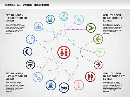 Social Network Diagram, Slide 3, 01245, Business Models — PoweredTemplate.com