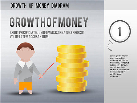 Growth of Money Diagram, 01246, Business Models — PoweredTemplate.com