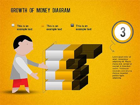 Growth of Money Diagram, Slide 10, 01246, Business Models — PoweredTemplate.com