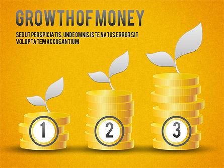 Growth of Money Diagram, Slide 11, 01246, Business Models — PoweredTemplate.com