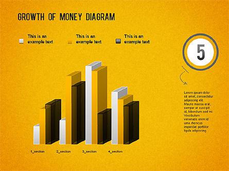 Growth of Money Diagram, Slide 13, 01246, Business Models — PoweredTemplate.com