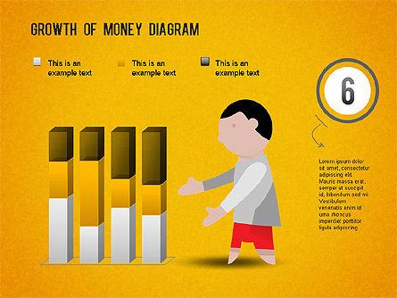 Growth of Money Diagram, Slide 14, 01246, Business Models — PoweredTemplate.com