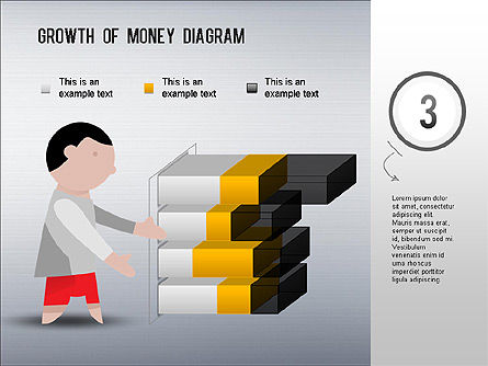 Growth of Money Diagram, Slide 3, 01246, Business Models — PoweredTemplate.com