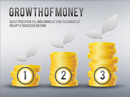 Growth of Money Diagram, Slide 4, 01246, Business Models — PoweredTemplate.com