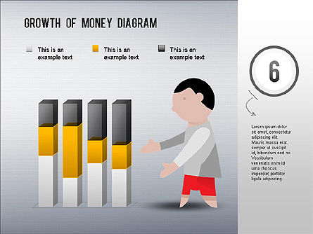 Growth of Money Diagram, Slide 7, 01246, Business Models — PoweredTemplate.com