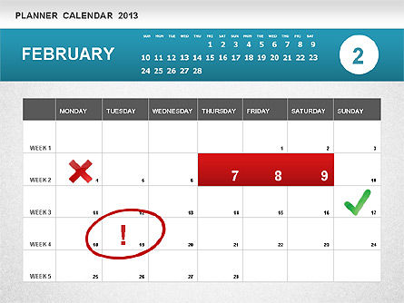 Planner Calendar 2013, Slide 2, 01247, Timelines & Calendars — PoweredTemplate.com