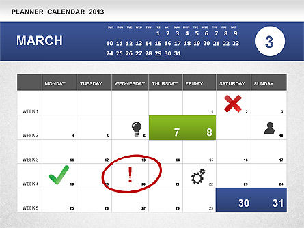 Planner Calendar 2013, Slide 3, 01247, Timelines & Calendars — PoweredTemplate.com