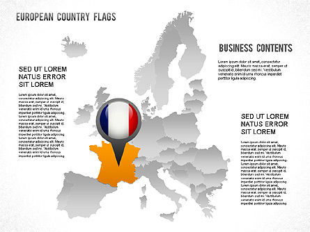 European Countries Flags, 01250, Shapes — PoweredTemplate.com