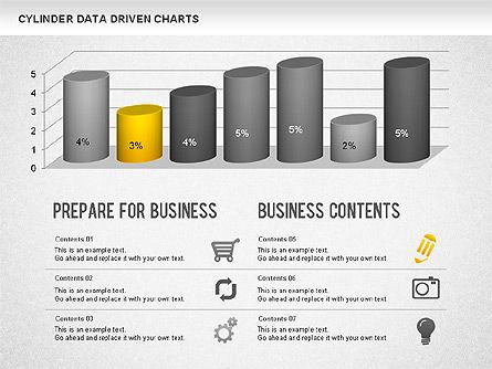 Graph Charts: Cylinder Bar Chart #01251