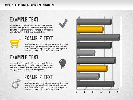 Cylinder Bar Chart, Slide 10, 01251, Graph Charts — PoweredTemplate.com