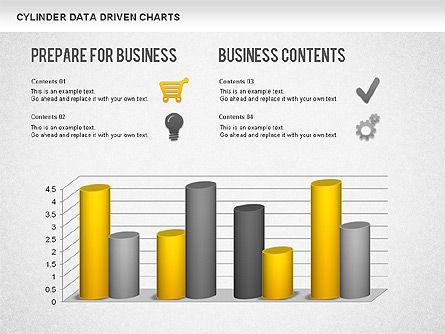 Cylinder Bar Chart, Slide 11, 01251, Graph Charts — PoweredTemplate.com