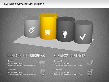 Cylinder Bar Chart, Slide 12, 01251, Graph Charts — PoweredTemplate.com