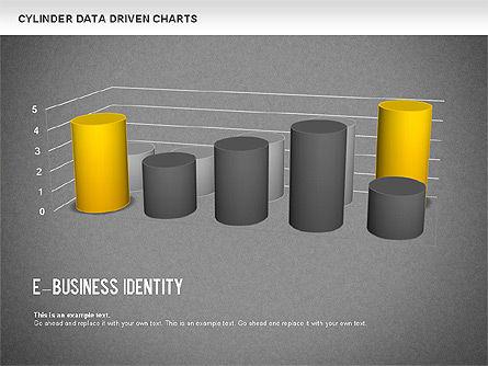 Cylinder Bar Chart, Slide 13, 01251, Graph Charts — PoweredTemplate.com