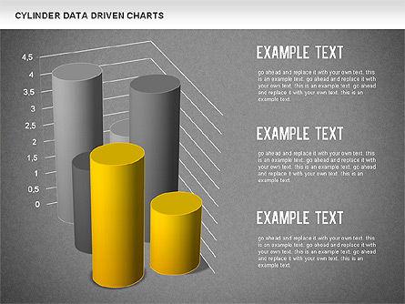 Cylinder Bar Chart, Slide 15, 01251, Graph Charts — PoweredTemplate.com
