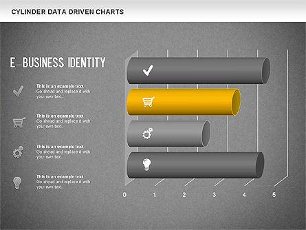 Cylinder Bar Chart, Slide 16, 01251, Graph Charts — PoweredTemplate.com
