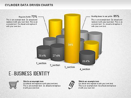 Cylinder Bar Chart, Slide 2, 01251, Graph Charts — PoweredTemplate.com