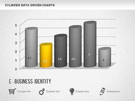 Cylinder Bar Chart, Slide 3, 01251, Graph Charts — PoweredTemplate.com