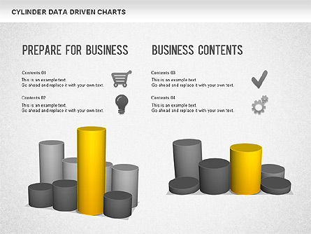 Cylinder Bar Chart, Slide 4, 01251, Graph Charts — PoweredTemplate.com
