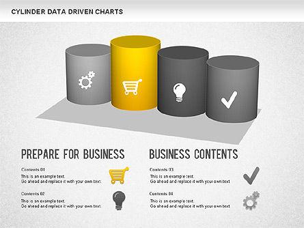 Cylinder Bar Chart, Slide 5, 01251, Graph Charts — PoweredTemplate.com