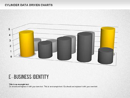 Cylinder Bar Chart, Slide 6, 01251, Graph Charts — PoweredTemplate.com