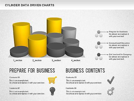 Cylinder Bar Chart, Slide 7, 01251, Graph Charts — PoweredTemplate.com
