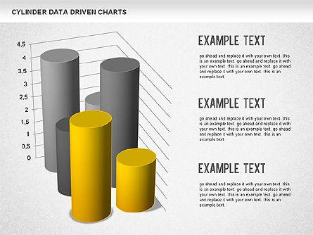 Cylinder Bar Chart, Slide 8, 01251, Graph Charts — PoweredTemplate.com