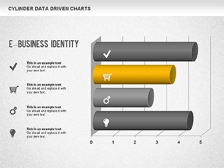 Cylinder Bar Chart, Slide 9, 01251, Graph Charts — PoweredTemplate.com