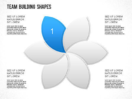 Team Building Shapes Collection, Slide 10, 01252, Shapes — PoweredTemplate.com