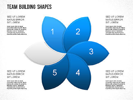 Team Building Shapes Collection, Slide 14, 01252, Shapes — PoweredTemplate.com