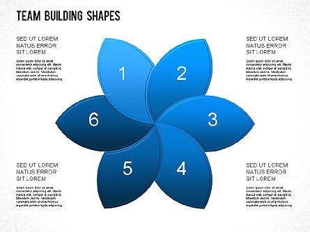 Team Building Shapes Collection, Slide 15, 01252, Shapes — PoweredTemplate.com