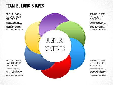 Team Building Shapes Collection, Slide 16, 01252, Shapes — PoweredTemplate.com