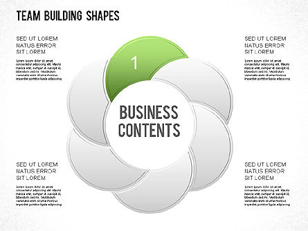 Team Building Shapes Collection, Slide 17, 01252, Shapes — PoweredTemplate.com