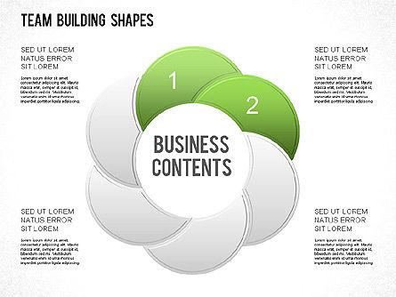 Team Building Shapes Collection, Slide 18, 01252, Shapes — PoweredTemplate.com