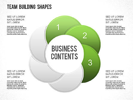 Team Building Shapes Collection, Slide 19, 01252, Shapes — PoweredTemplate.com