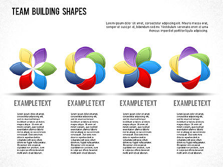 Team Building Shapes Collection, Slide 2, 01252, Shapes — PoweredTemplate.com
