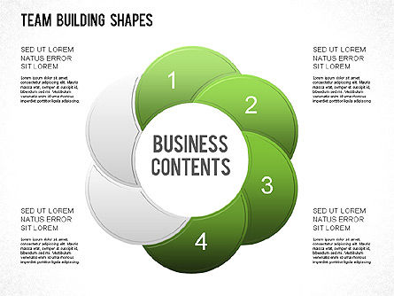 Team Building Shapes Collection, Slide 20, 01252, Shapes — PoweredTemplate.com