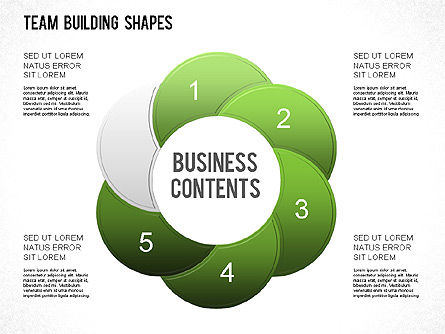 Team Building Shapes Collection, Slide 21, 01252, Shapes — PoweredTemplate.com