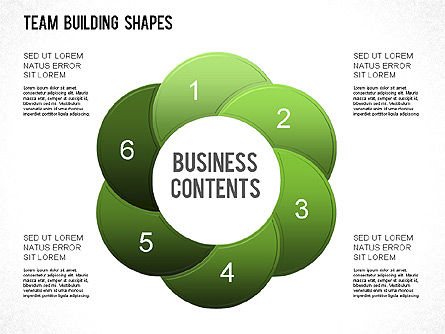 Team Building Shapes Collection, Slide 22, 01252, Shapes — PoweredTemplate.com
