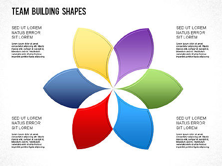 Team Building Shapes Collection, Slide 23, 01252, Shapes — PoweredTemplate.com