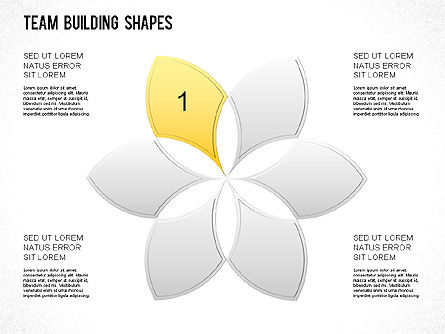 Team Building Shapes Collection, Slide 24, 01252, Shapes — PoweredTemplate.com